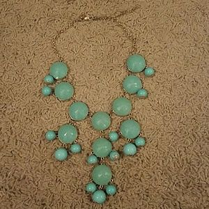 J. Crew teal bauble necklace